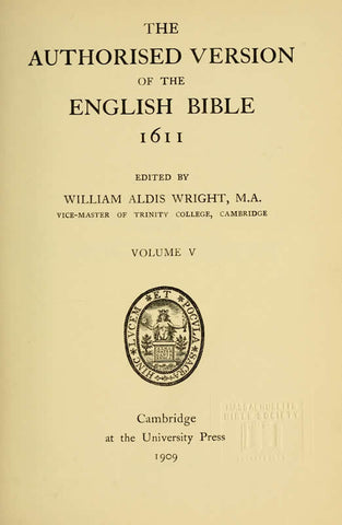 The Authorised Version Of The English Bible, 1611
