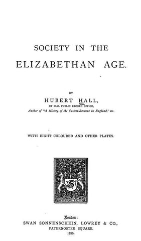 Society In The Elizabethan Age
