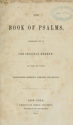 The Book of Psalms: