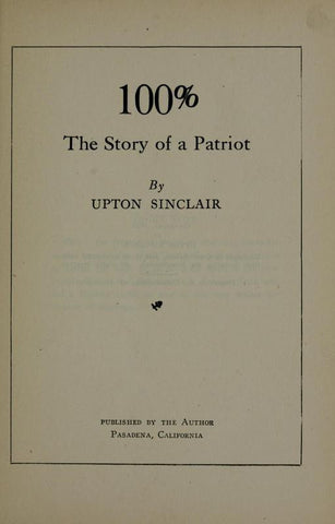 100%: The Story Of A Patriot - Repressed Publishing - 1