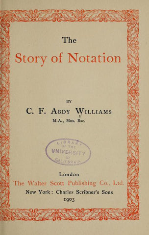 The Story Of Notation