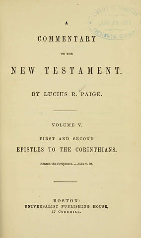 A Commentary On The New Testament - Repressed Publishing - 1