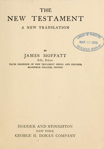 The New Testament: A New Translation