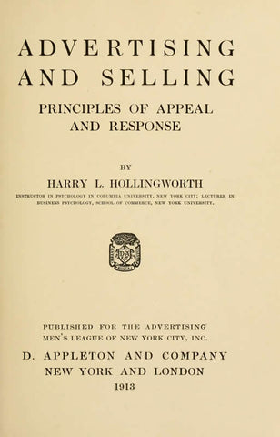 Advertising And Selling: Principles Of Appeal And Response