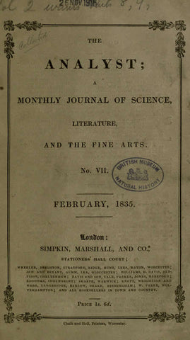 The Analyst: Monthly Journal Of Science, Literature, And The Fine Arts