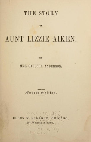 The Story Of Aunt Lizzie Aiken