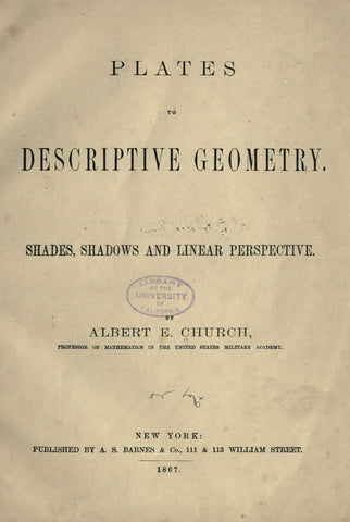 Plates To Descriptive Geometry