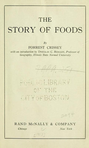The Story Of Foods