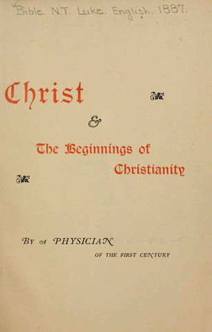 Christ & The Beginnings Of Christianity
