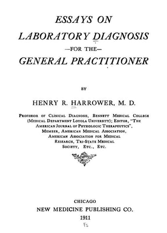 Essays On Laboratory Diagnosis For The General Practitioner
