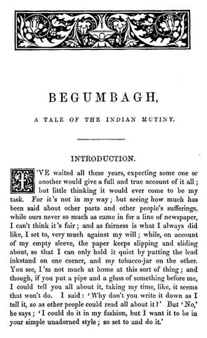 Begumbagh, A Story Of The Indian Mutiny, And Other Stories