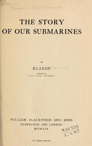 The Story Of Our Submarines