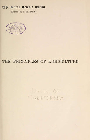 The Principles Of Agriculture; A Text-Book For Schools And Rural Societies