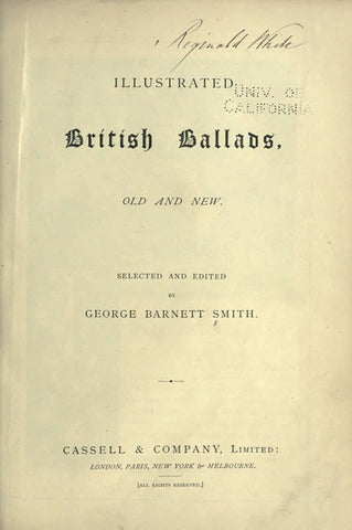 Illustrated British Ballads, Old And New