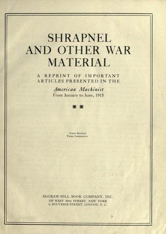 Shrapnel and Other War Material