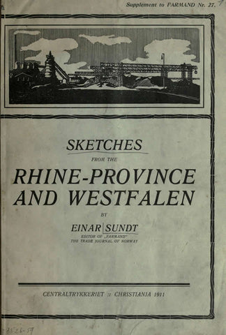 Sketches From The Rhine-Province And Westfallen