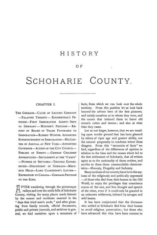 1713. History of Schoharie County, New York - Repressed Publishing - 1