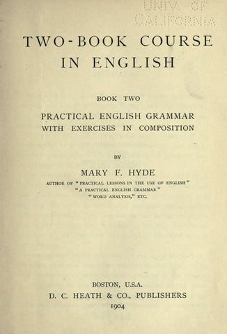 Two-Book Course In English