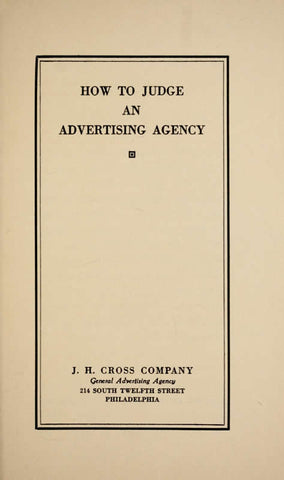 How To Judge An Advertising Agency