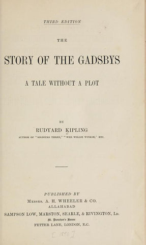 The Story Of The Gadsbys: A Tale Without A Plot