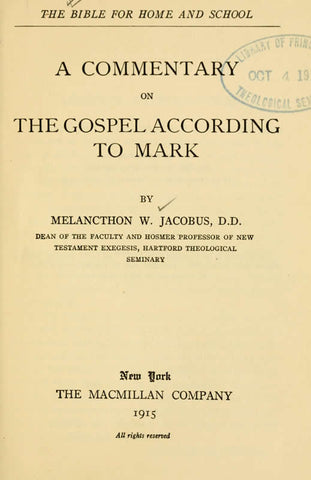 A Commentary On The Gospel According To Mark - Repressed Publishing - 1