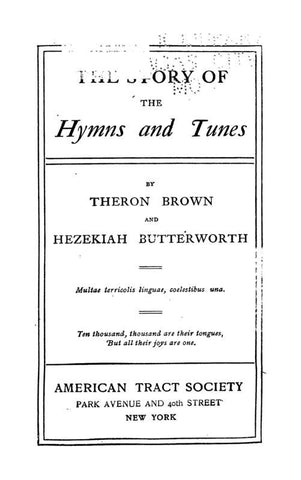 The Story Of Hymns And Tunes