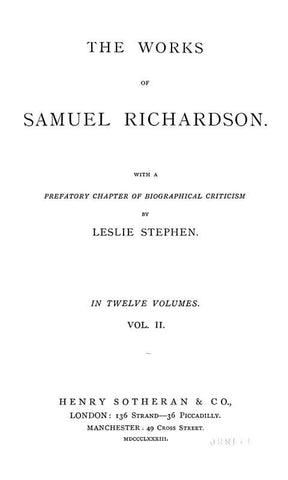 The Works Of Samuel Richardson
