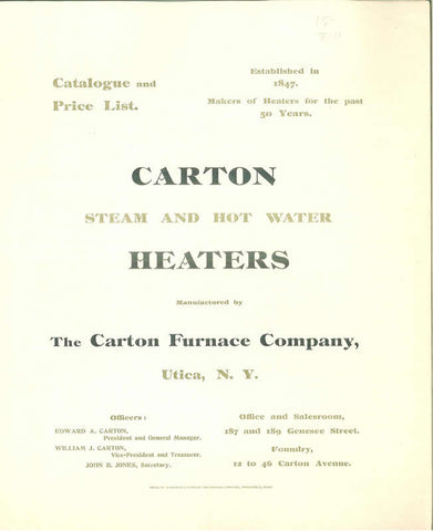 Carton Steam And Hot Water Heaters