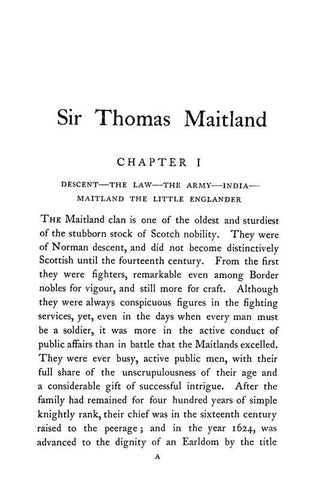 Sir Thomas Maitland, The Mastery Of The Mediterranean