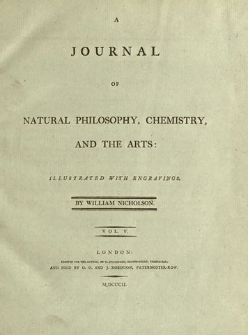Journal Of Natural Philosophy, Chemistry & The Arts