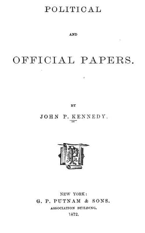 Political And Official Papers
