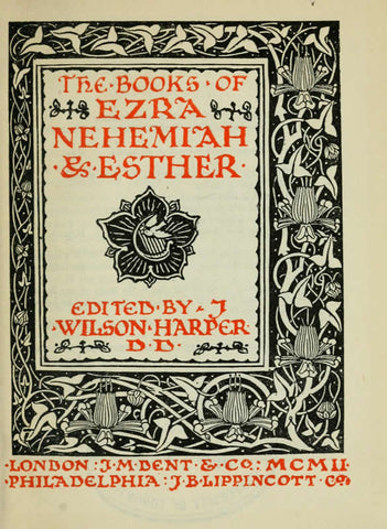 The Books Of Ezra, Nehemiah & Esther