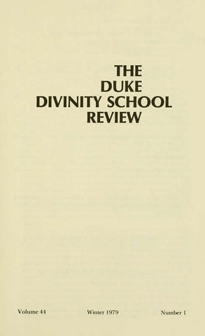 The Duke Divinity School Review Serial