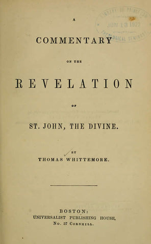 A Commentary On The Revelation Of St. John, The Divine - Repressed Publishing - 1