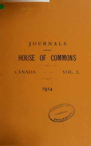 Journals Of The House Of Commons Of The Dominion Of Canada Volume 50