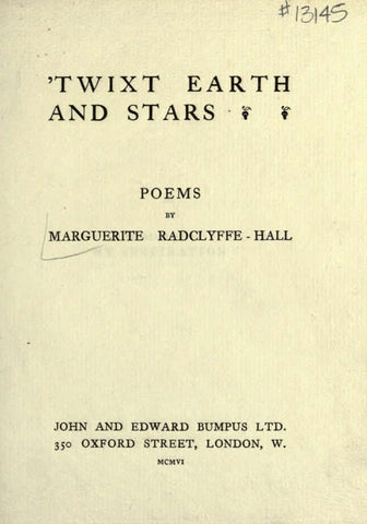 'Twixt Earth And Stars; Poems - Repressed Publishing - 1