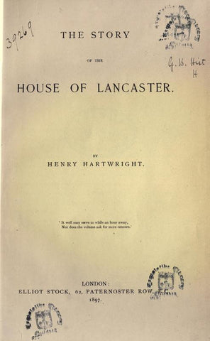 The Story Of The House Of Lancaster