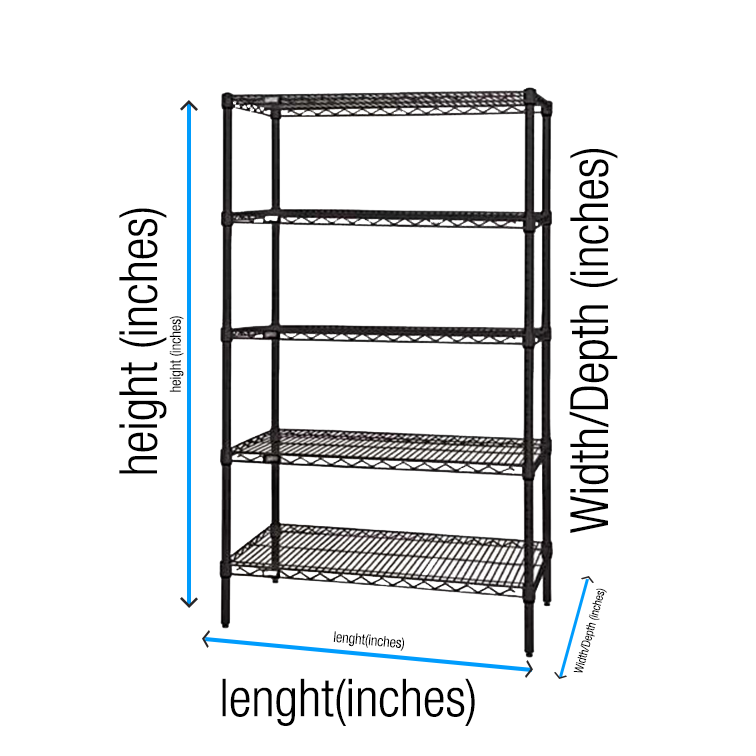Shelving Smart Shelving Units Sizing guide