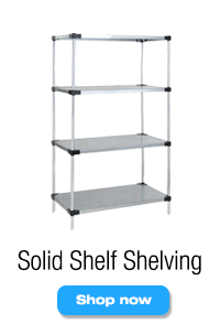 Solid Shelf Wire Shelving Units