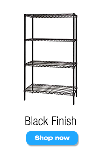 Black Finish Wire Shelving Units