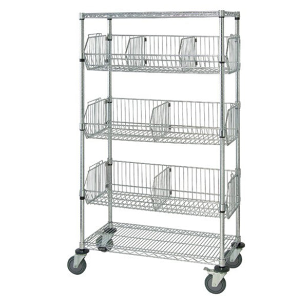 Chrome Mobile Wire Shelving