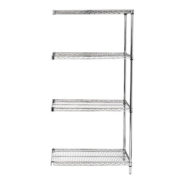 "54""H Chrome 4 Shelf Wire Shelving Add-on Kit - Shelving Smart - 1"