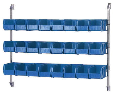 "48"" x 34"" Wall Mount Cantilever System with Bin Holders - Shelving Smart - 1"
