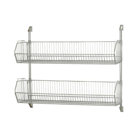 "34"" H Post Wall Mount Cantilever with Wire Baskets Multiple Sizes Available - Shelving Smart - 1"