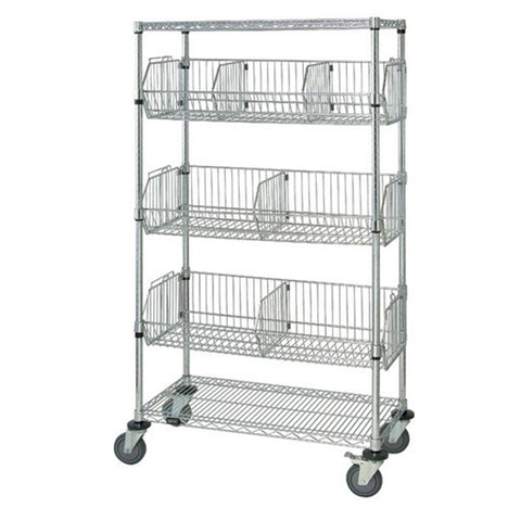 "69""H Mobile Wire 3 Basket Unit - Shelving Smart"