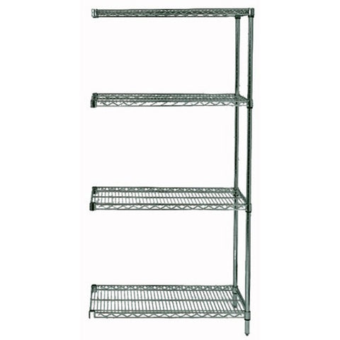 "86""H Proform 4 Shelf Wire Shelving Add-on Kit 12"" x 36"" - Shelving Smart"