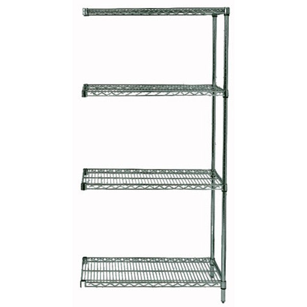 "54""H Proform 4 Shelf Wire Shelving Add-on Kit - Shelving Smart"