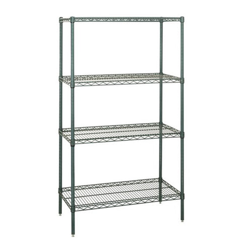"74""H Proform  4 Shelf  Wire Shelving Starter Kit - Shelving Smart"