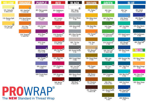 Prowrap ColourFast  A Neon 100yd & 650yd - customrodsupplies