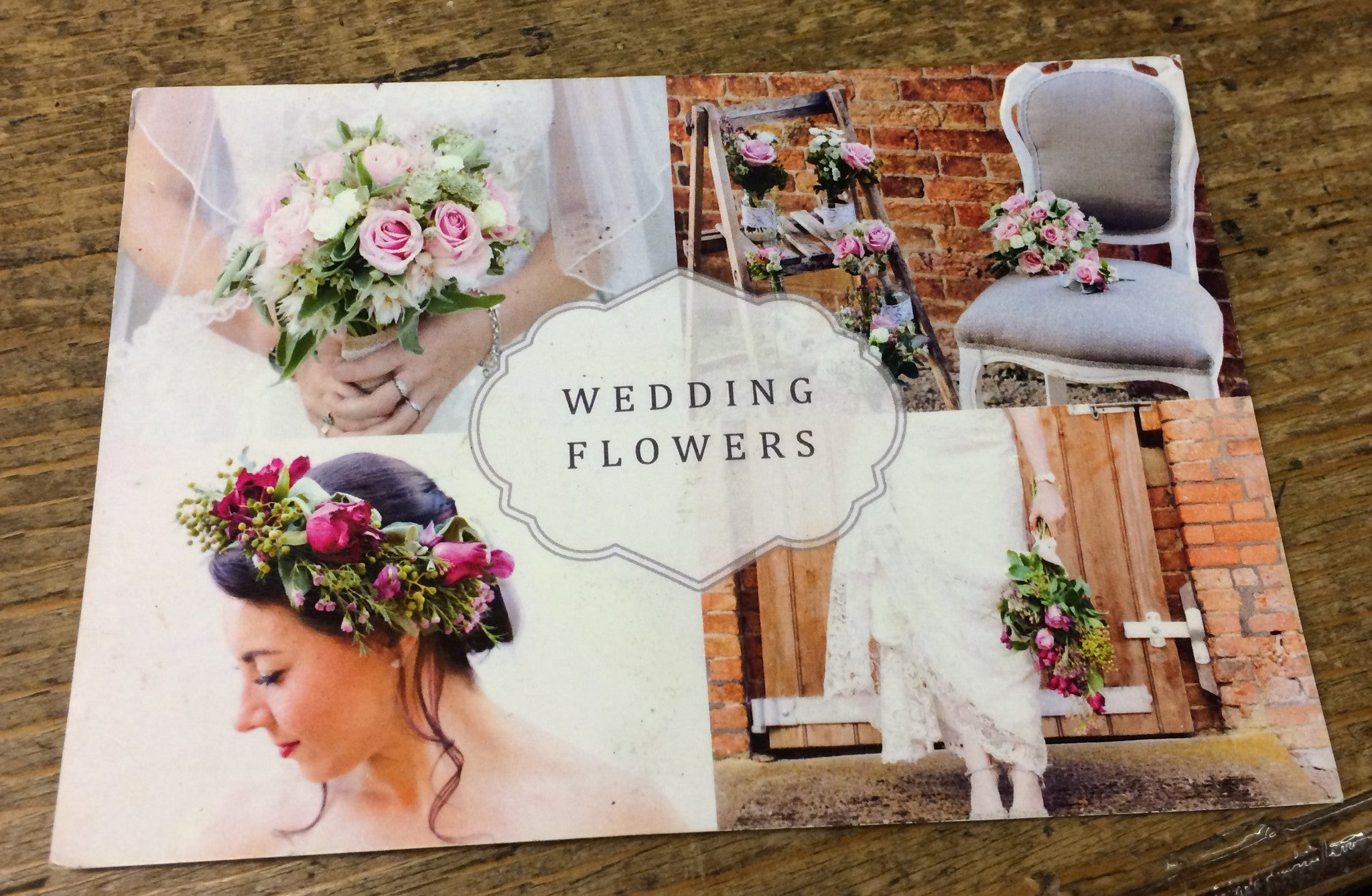 Wedding flowers advertisement card